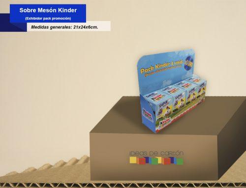 Exhibidor sobre meson Kinder