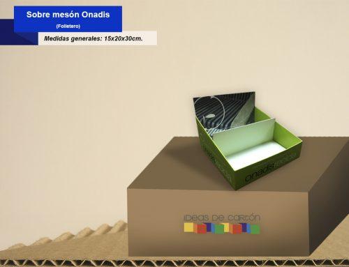 Exhibidor sobre meson Onadis