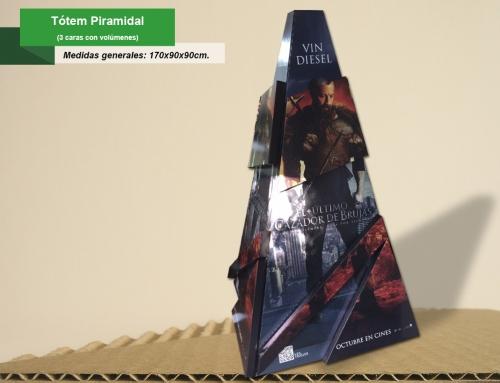 Totem piramidal c-volumenes